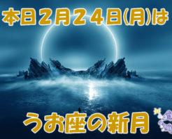 本日2月24日(月)はうお座の新月です。