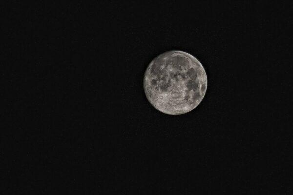月の海が見える満月
