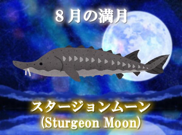 8月の満月「スタージョンムーン(Sturgeon Moon)